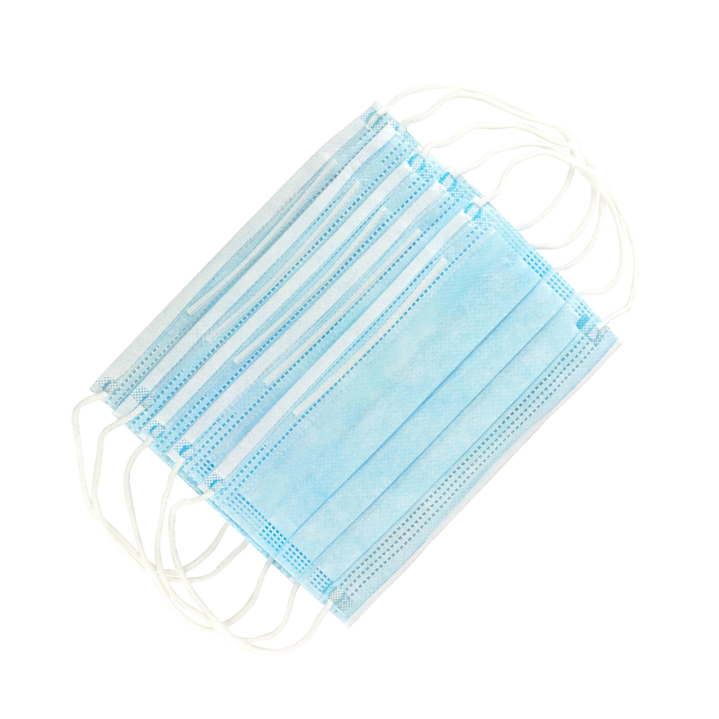 Mund-Nasen Bedeckung - Box mit 50 Stück, 3-lagig.  Gesichtsmasken-Mundschutz TYP1 mit FDA Registrierung 195 g