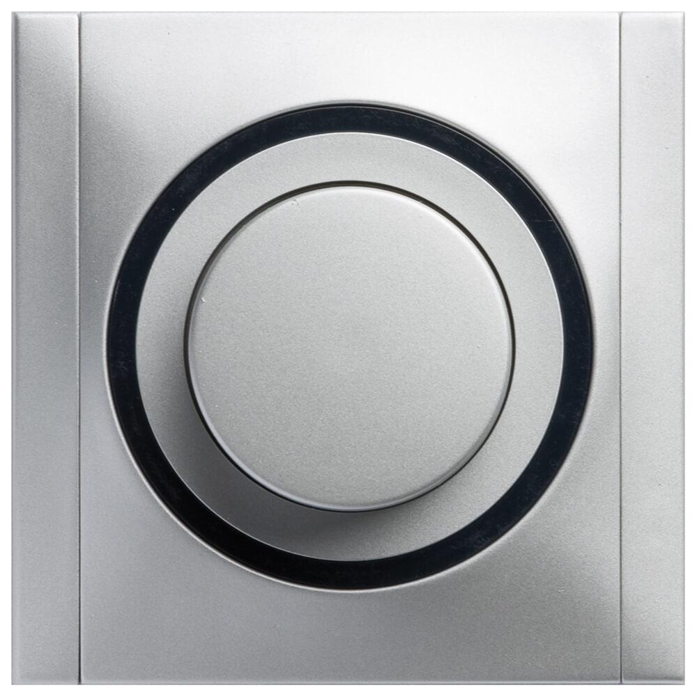 Ascoli Helligkeitsregler-Dimmer 300VA inkl. Rahmen titan-grau