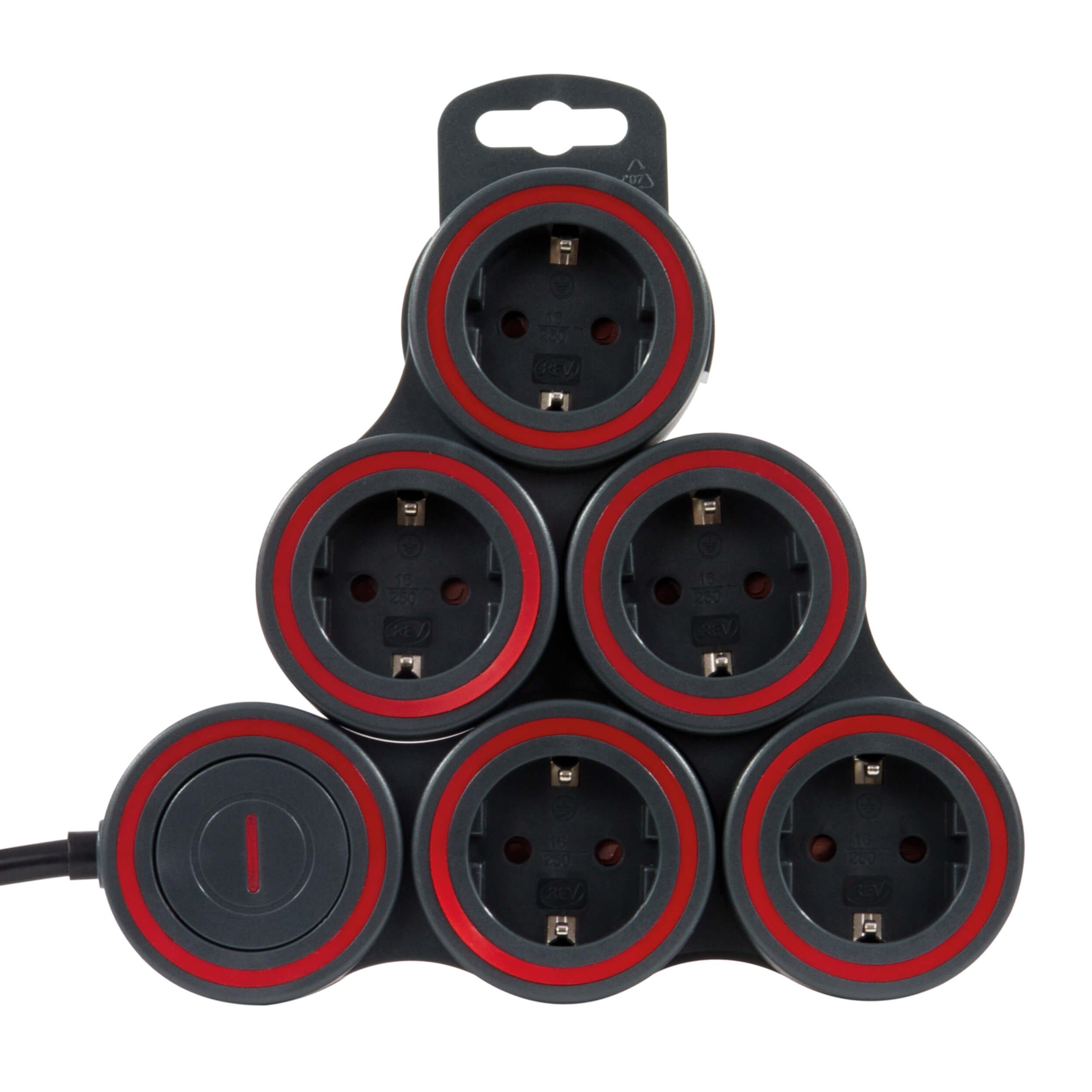 Steckdosenleiste SupraFlex - flexibel an die Umgebung anpassbar, 5-fach, bis 3500W, Zuleitung 140cm