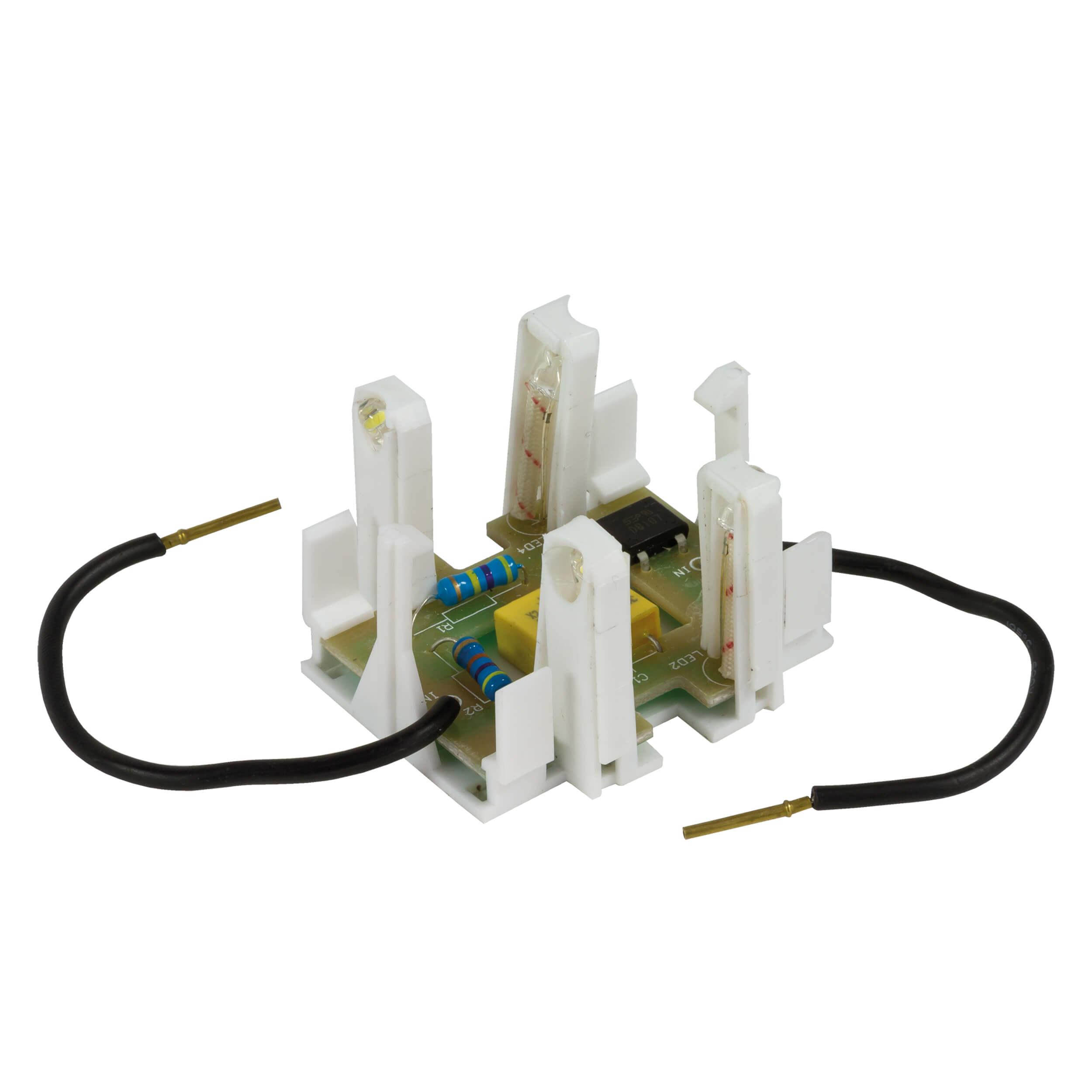 Ascoli LED-Modul inklusiv orangenem und blauem Farbring für Schalter- und Steckdosenprogramm