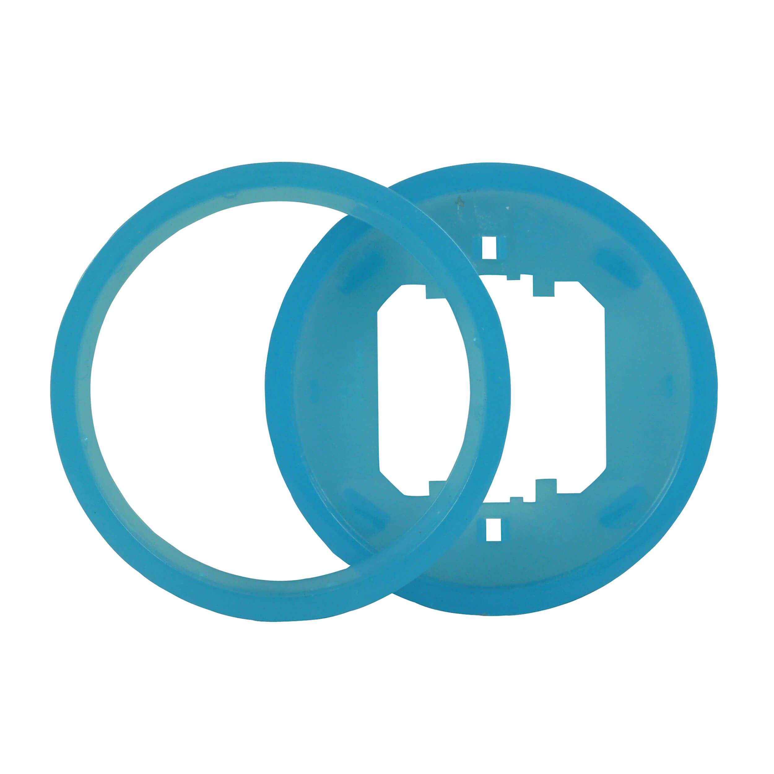 Ascoli Farbring-Einlegering 2+2 für Schalter- und Steckdosenprogramm, blau