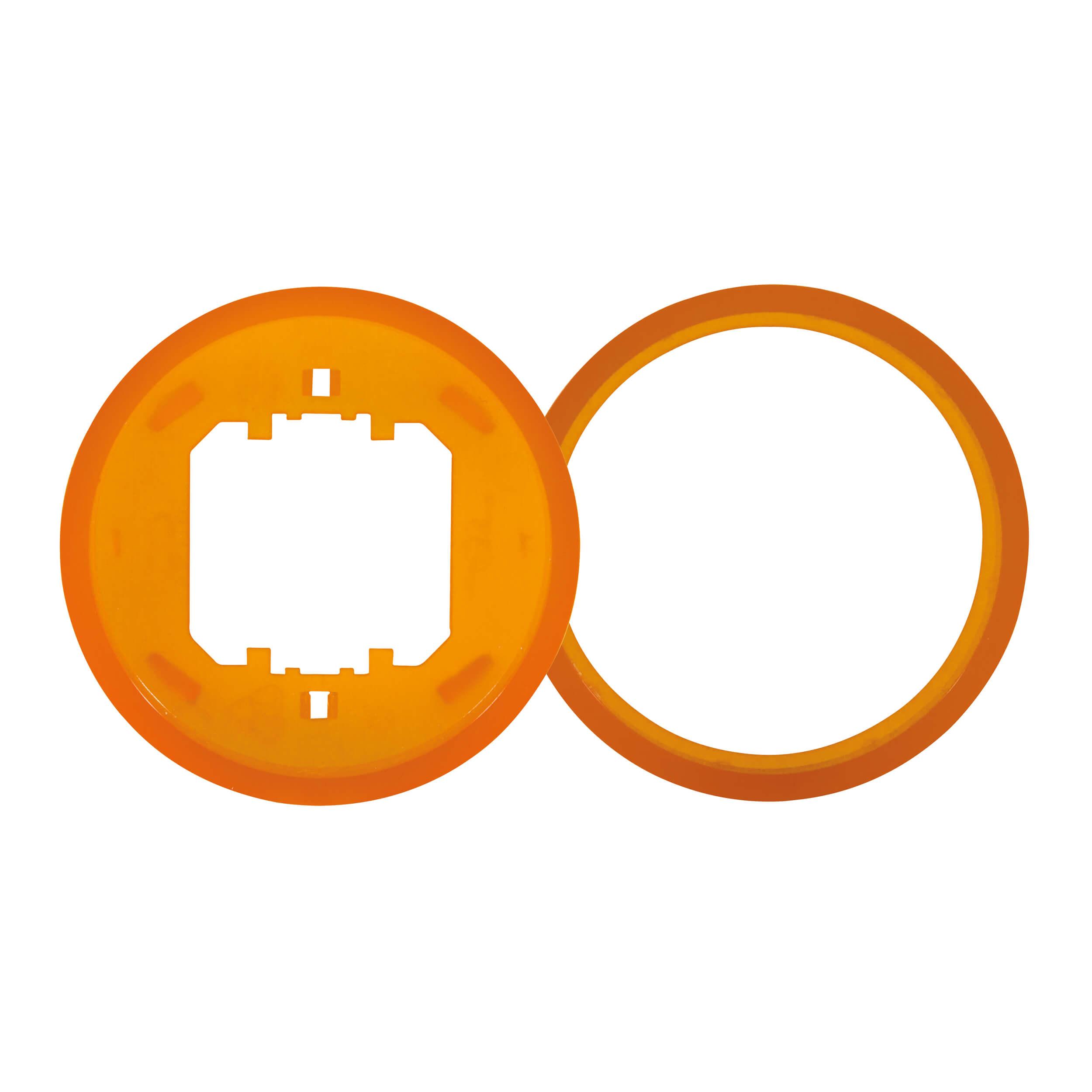 Ascoli Farbring-Einlegering 2+2 für Schalter- und Steckdosenprogramm, orange